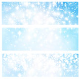 Blue  abstract lights banners. Stock Photography