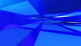 Blue abstract lights title background Stock Photography