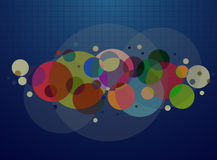 Blue abstract line and Circle background vector Royalty Free Stock Photo
