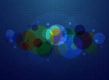 Blue abstract line and Circle background vector Stock Photography