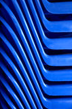 Blue abstract. Line of blue abstract plastic Royalty Free Stock Photo