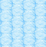 Blue abstract linear pattern. Seamless decorative netting background Stock Images