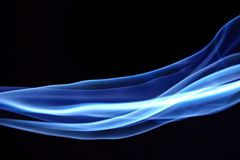 Blue Abstract Lines. Blue abstract motion lines background royalty free stock image