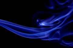 Blue Abstract Lines. Blue abstract motion lines background royalty free stock photos