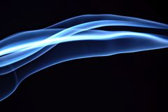 Blue Abstract Lines. Blue abstract motion lines background stock photography