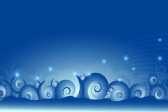 Blue abstract lines and swirl wave background Royalty Free Stock Image