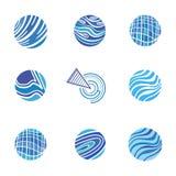 Blue Abstract Logos Stock Photo
