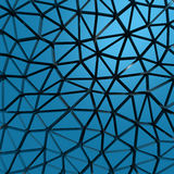 Blue abstract low poly pattern wall background Royalty Free Stock Images
