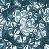 Blue abstract low poly pattern wall background Stock Image