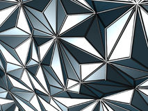Blue abstract low poly pattern wall background Royalty Free Stock Photo