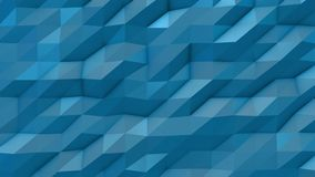 Blue abstract low poly triangle background. 4k stock video footage