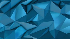 Blue abstract low poly triangle background. 4k stock video