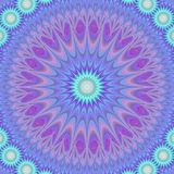 Blue abstract mandala fractal design background Stock Image