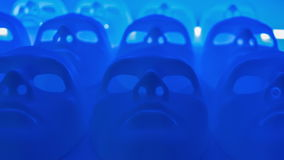 Blue abstract masks stock video