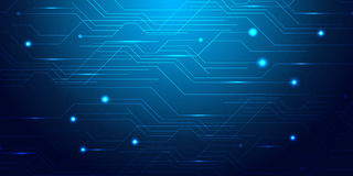 Blue Abstract Mesh Background - Circles, Lines and lightening Shapes illusrtated Stock Photo