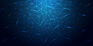Blue Abstract Mesh Background - Circles, Lines and lightening Shapes illusrtated Royalty Free Stock Image