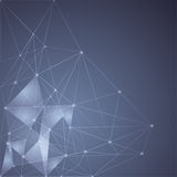 Blue Abstract Mesh Background with glowing lines Stock Photo
