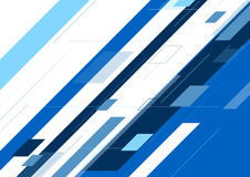 Blue abstract minimal geometric background Stock Images