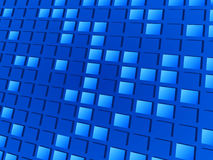 Blue abstract mosaic background Stock Photo