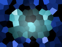 Blue abstract mosaic Stock Images