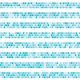 Blue abstract mosaic horizontal striped seamless pattern. Ceramic tile fragments endless texture Vector background. Blue abstract mosaic horizontal striped Stock Images