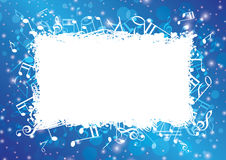 Blue abstract musical background with notes Royalty Free Stock Photos