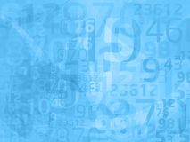 Blue abstract numbers Stock Photos