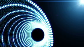 Blue Abstract object Particle seamless background stock video footage