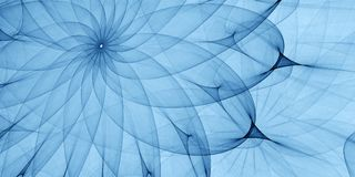 Blue abstract ornament. Detailed spiral drawing, art guilloche Royalty Free Stock Images