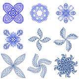 Blue abstract ornament Stock Photos