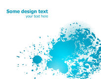 Blue abstract paint splashes illustration. Vector Royalty Free Stock Photography