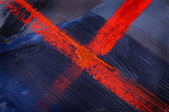 Blue abstract painted Stock Photo