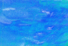 Blue abstract painted. Canvas background Stock Photography