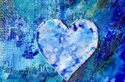 Blue abstract painting with he Stock Images