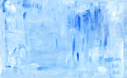 Blue abstract painting background. Blue abstract acryl painting background. Grunge pattern Royalty Free Stock Photo