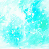 Blue abstract painting for interior with white blots and spots, Royalty Free Stock Photography