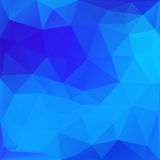 Blue Abstract Polygonal Background Royalty Free Stock Photos