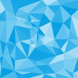 Blue Abstract Polygonal Background. Blue abstract low-poly polygonal triangular mosaic background for web presentations and prints. Vector illustration Royalty Free Stock Photos
