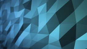 Blue Abstract Polygonal Surface Moving in Seamless 3d Animation in 4k. Side view stock illustration