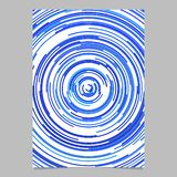 Blue abstract poster background from concentric rings. Blue abstract circle design poster background from concentric rings royalty free illustration
