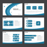 Blue Abstract presentation template Infographic elements flat design set for brochure flyer leaflet marketing. Advertising Royalty Free Stock Photos