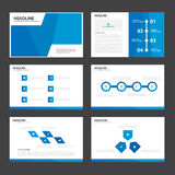 Blue Abstract presentation template Infographic elements flat design set for brochure flyer leaflet marketing. Advertising Royalty Free Stock Image