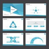 ฺBlue Abstract presentation template Infographic elements flat design set for brochure flyer leaflet marketing Stock Photo