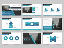 Blue Abstract presentation templates, Infographic elements template flat design set for annual report brochure flyer leaflet Stock Photo