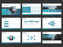 Blue Abstract presentation templates, Infographic elements template flat design set for annual report brochure flyer leaflet Stock Photos
