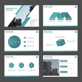 Blue Abstract presentation templates, Infographic elements template flat design set for brochure flyer leaflet marketing. Advertising banner template Stock Photos