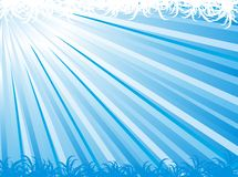 Blue abstract ray vector background Royalty Free Stock Photos