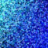 Blue abstract regular triangle tile mosaic background. Modern gradient polygon vector graphic design Royalty Free Stock Photo