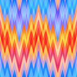 Blue Abstract Retro Vector Background. Colored Abstract Retro Striped Background, Fashion Zigzag Pattern of Blue, Red and Yellow Stripes Stock Image