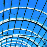 Blue abstract roof inside Royalty Free Stock Photos